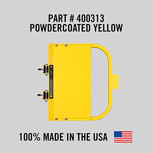 Safety Gate Company Self-Closing Yellow Safety Gate for Square or Round Post Mount 23-29'' • 100% USA Made •Safety Yellow