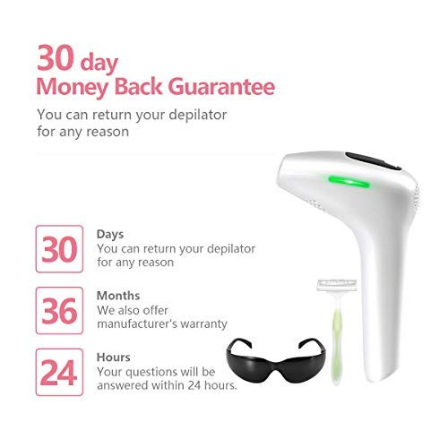 IPL Hair Removal Device for Women and Men, Permanent Laser Hair Removal, Removal for Face, Legs, Underarms, Face, Bikini,Arms.