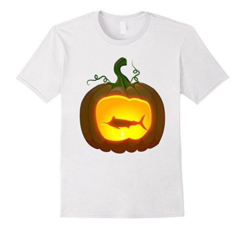 Mens marlin Fish Halloween shirt 2XL White