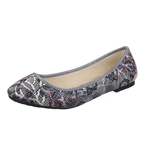 Ital-Design - zapatilla baja Mujer Lila Grau