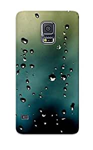 New Style Tpu S5 Protective Case Cover/ Galaxy S5 Case - Rain Drops On The Window