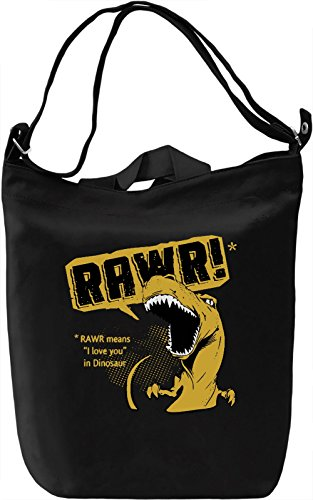 Rawr Means I Love You Borsa Giornaliera Canvas Canvas Day Bag| 100% Premium Cotton Canvas| DTG Printing|