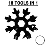 GINRRY 18-in-1 Snowflake Multi Tool,Great Christmas gift, Multi-Tool Stainless Steel Snowflake Bottle Opener/Screwdriver/Wrench,Durable and Portable to Take (Standard, Stainless Steel)