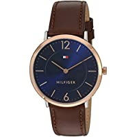 Tommy Hilfiger Men's 'Sophisticated Sport' Quartz Gold and Leather Casual Watch, Color Brown (Model: 1710354)