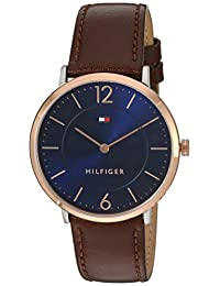 Tommy Hilfiger Men's 'Sophisticated Sport' Quartz Gold and Leather Automatic Watch, Color: Brown (Model: 1710354)