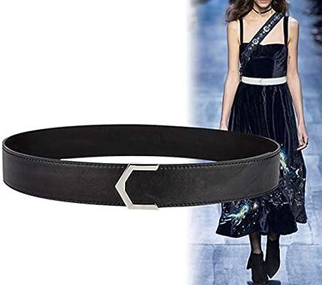 TINERS Cinturón para Mujer, Vestido Ancho con Falda y cinturón ...