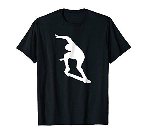 Ollie Skateboard Trick Silhouette Skater Kids Tee Gift Top