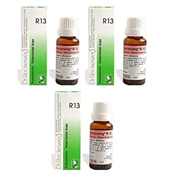 3 x Dr  Reckeweg - Homeopathic Medicine - R13 - Piles Drops