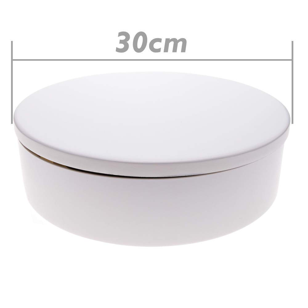 Base girevole elettrica 30 cm bianco Cablematic.com PN18071409391122640