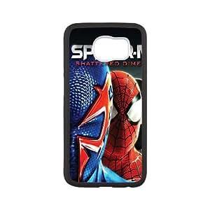 Back Skin Case Shell Samsung Galaxy S6 Cell Phone Case Black elovek pauk spider man kino Zjbne Pattern Hard Case Cover