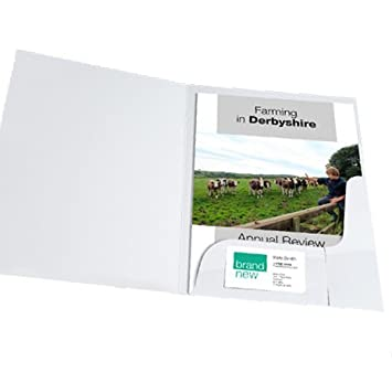 Tqs presentation folders a4 with pocket and business card slot white tqs presentation folders a4 with pocket and business card slot white glossy50 pieces colourmoves