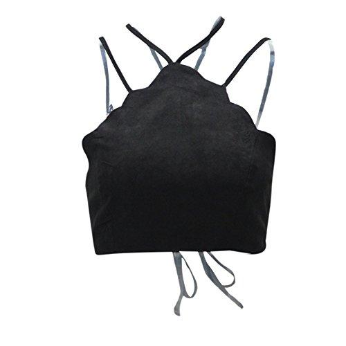 PanDaDa - Camiseta sin mangas - para mujer negro