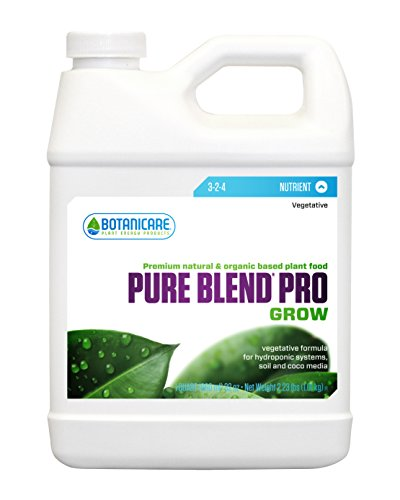 Botanicare BCPBPGQT Pure Blend Pro Grow Terpene Enhancing Base Nutrient Vegetative Formula, 1-Quart