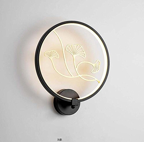 Chinese Wall Lamp Iron + Resin + Ceramic Wall Light Hotel Engineering Teahouse Deco Bracket Light,D by Mamrar
