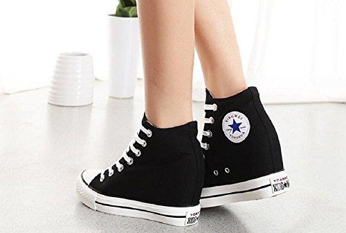 Damesschoenen Mode Sneakers Buitenshuis Classicankle Schoenen Van Jiye Zwart
