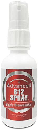 Advanced Vitamin B12 Sublingual Spray-Most Effective Delivery & Absorption. More Effective Than Pills, Powders, and Capsule -Berry Flavor- Satisfaction Guaranteed 100%