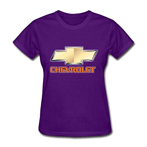 Van Women's American General Motors Chevrolet Car Brand Logo Tees L Purple