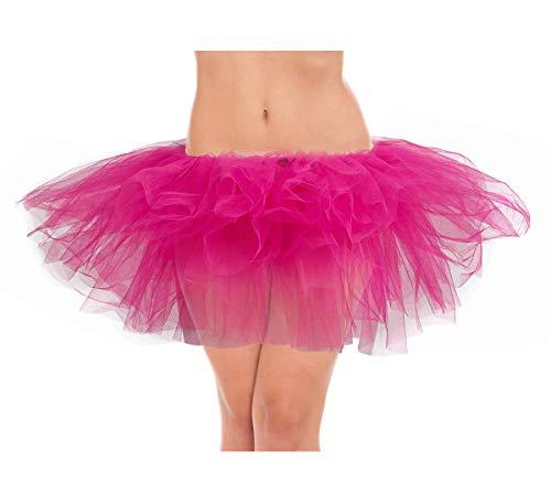 belababy Women Tutu Skirt Classic 5 Layers Fuchsia Rose]()