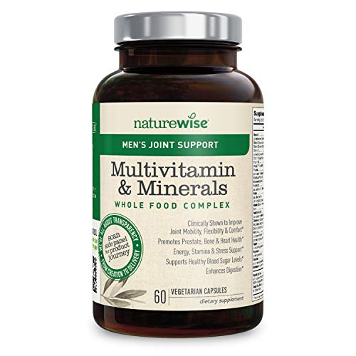 (NatureWise Men's Whole Food Multivitamin with Joint Support | Vitamins, Minerals, Organic Whole Foods + UC-II Collagen Improves Joint Mobility & Comfort (⬇ Watch Video in Images) [1 Month - 60 Count])