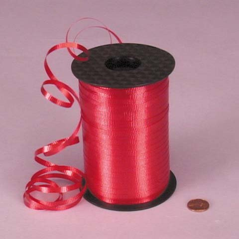 Red Crimped Curling Ribbon