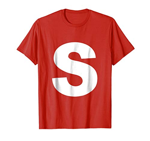 Letter S Shirt Halloween Costume Candy]()