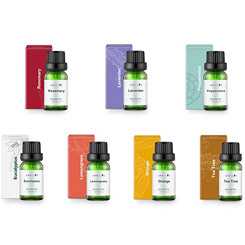 Aromatherapy Top 7 Essential Oils 100% Pure & Therapeutic-Grade, Essential Oil Set – Basic Sampler Gift Set & Kit (Rosemary, Lavender, Peppermint, Eucalyptus, Lemongrass, Orange, Tea Tree)