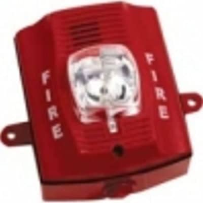 Outdoor H/S, Wall, 2-Wire, Hi Candela, Red