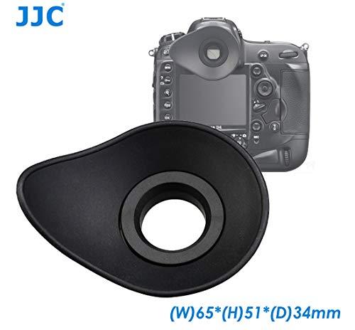 Replacement Rubber Eyecup - JJC EN-DK19 Large Eyecup for Nikon D500 D800 D800E D810 D810A D3 D4 D4S D5 Df, Ergonomic Design Oval Soft TPU Rubber Eyecup, replacement of Nikon DK-19 eyecup
