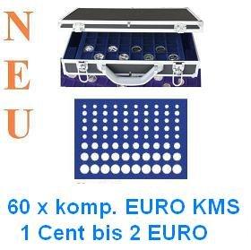 Safe Alu Münzkoffer 268 183 60 X Komplette Euro Kursmünzensätze