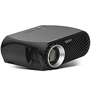 "Fixeover Video Projector GP100, Full HD Support 1080P, WXGA Resolution, Bright Image, 180"" LED Projector for Home Cinema, Compatible with Fire TV Stick"