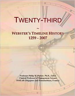 Book Twenty-third: Webster's Timeline History, 1259 - 2007