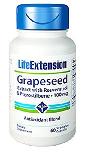 Grapeseed Extract w Resveratrol Life Extension 60 - Extension Grape Extract Seed Life