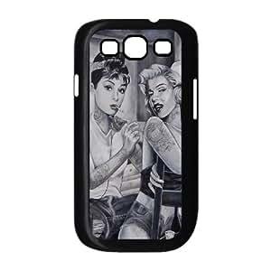 Audrey Hepburn Pattern New Fashion Case for Samsung Galaxy S3 I9300, Popular Audrey Hepburn Pattern Case