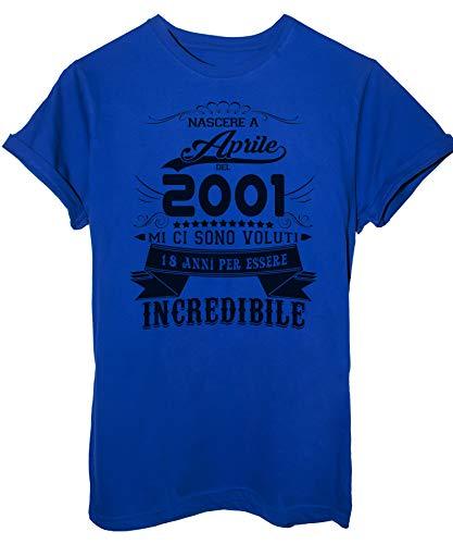 Ad Anni Image Royal 18 shirt 2019 Nato Per Essere Blu Aprile Incredibile Compleanno 2001 Del Eventi T vwqX1xwarf