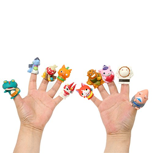 Story Doll Assorted Color Monster Finger for Children, Shows, Playtime, Schools ()
