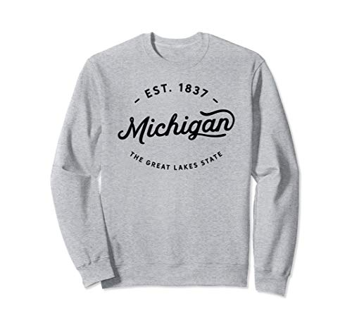 Classic Vintage Retro Michigan Midwest Warm Sweatshirt