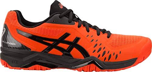 - ASICS Gel-Challenger 12 Men's Tennis Shoe, Cherry Tomato/Black, 12 D US