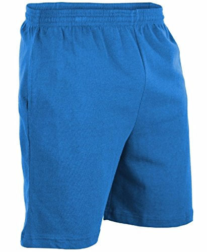 [Mens Heavyweight 100% Cotton Gym Shorts With Pockets] (Arab Money Costume)