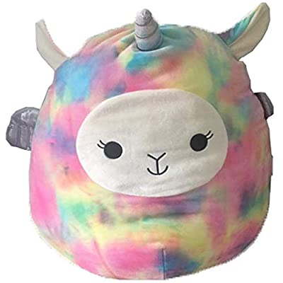 "Squishmallows Tie Dye Llama-Corn 13"" Lucy-May Pastel Llama Unicorn: Toys & Games"