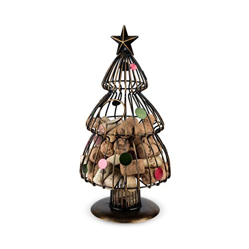 TRUE Fabrication Christmas Tree Wine Cork Holder, Multicolor