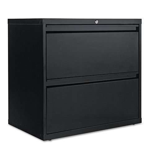 File Drawer 2 Lateral 30w - Alera Two-Drawer Lateral File Cabinet, 30w x 19-1/4d x 29h, Black