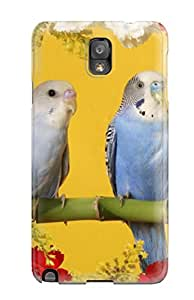 Hot 1426550K31207724 New Arrival Case Cover With Design For Galaxy Note 3- Budgerigars