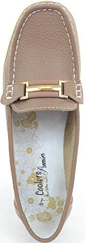 Damen/Damen Leder Smart/Casual/Sommer-Schuhe Taupe