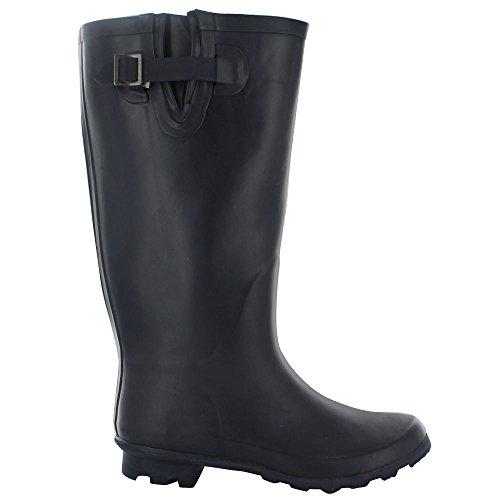 Snow Festival 8 UK Navy 3 amp;H Footwear Ladies Girls Rubber Adjustable Waterproof Sizes Wellies New Calf Wellington Dull Rain A Boots Womens Mud z7xwqRUxf