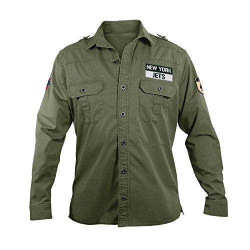 NFL New York Jets Men's Military Field Shirt, XXL