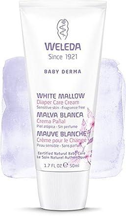 Crema de Pañal de Malva Blanca para Bebé - Weleda (50 ml) - Se envia con: muestra gratis y una tarjeta superbonita que puedes usar como marca-páginas!: