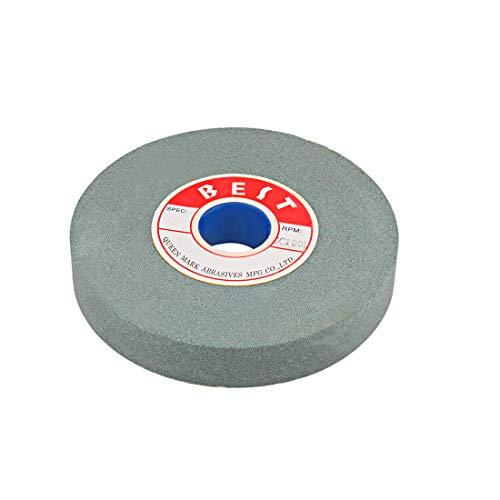 (uxcell 6-Inch Bench Grinding Wheels Green Silicon Carbide GC 100 Grit for Surface Grinding)