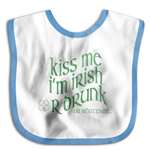 Waterproof Baby Bibs Kiss Me I'm Irish,Or