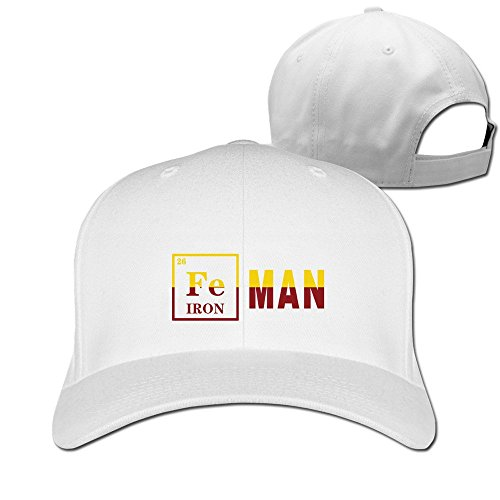 Cool Ironman Chemistry Adjustable Baseball Hat - Short Hair Snapback