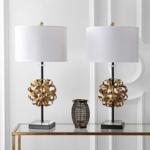 Safavieh TBL4050A-SET2 Lighting Collection Lionel Gold and Black Table Lamp, ()